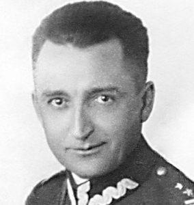 A. Fieldorf w mundurze podpułkownika WP.
